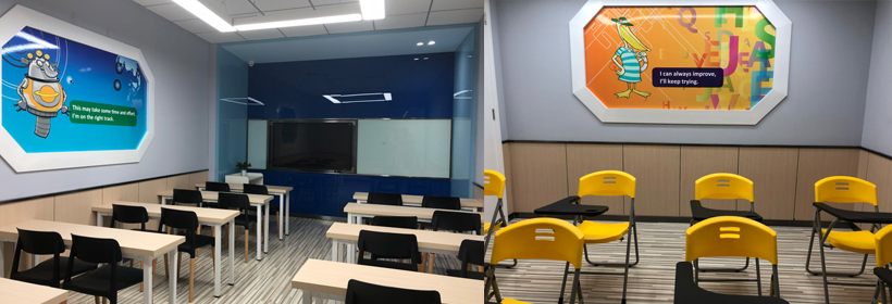 敞亮现代化的教室
